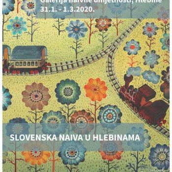 Vabilo na odprtje razstave Slovenska naiva v Hlebinah